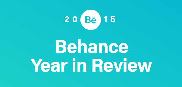 Retrospetiva do ano 2015 Behance