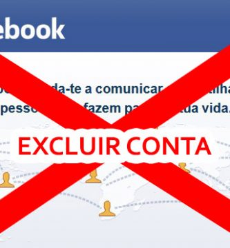 excluir conta facebook